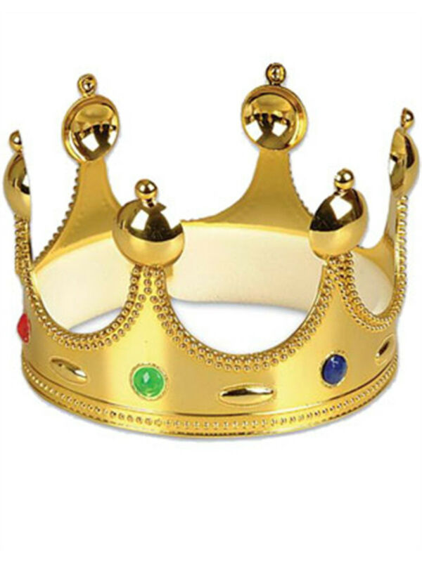 New Arthurian King Arthur Royal Gold Costume Crown