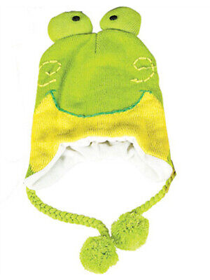 Frog Hat Knit Winter Cap Toque Costume Beanie Hat - Toad Costume Hat