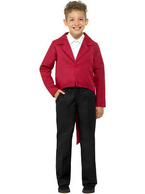 Child's Showman Magician Magic Act Red Tailcoat Jacket Costume - Costume Tailcoat