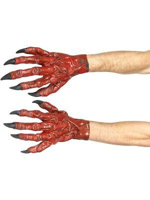 SMI - Kostüm Zubehör Handschuhe Teufel Teufelshände rot - Halloween Teufel Kostüm Zubehör