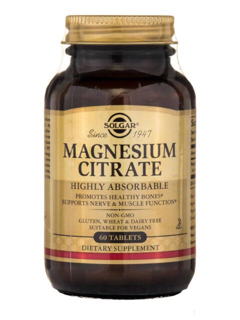1 Bottle of Solgar Magnesium Citrate 60 Tablets UK Seller! High potency