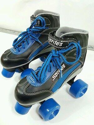 Roller Derby Sprites 500  size 13 child, black and blue, boys, wide track wheels
