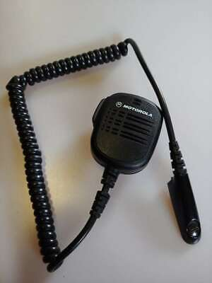 Motorola Mobile Radio Tactical Shoulder Microphone Hmn9052e With Lapel Clip Ub