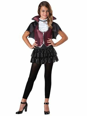 Glampiress Vampire Halloween Costume Sequin & Lame Dress Size 8-10,10-12Girls - Vampire Costume Girl