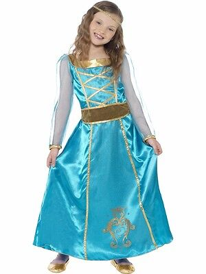 Kostüm Mittelalter Outfit Princess Susann Kleid blau Kinderkleid Smiffys 179078