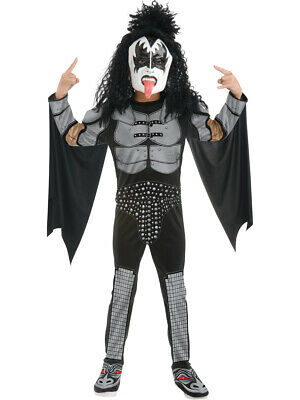 Kids Rockstar Costumes (Childs Kiss The Demon Gene Simmons Rock Star Costume Boys Large)