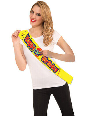 Happy Birthday Custom Birthday Sash With Stickers Costume Accessory