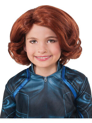 Childs Girls Black Widow Avengers Wig Costume Accessory