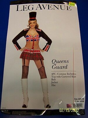 4 pc. Queens Guard Union Jack Dress Up Leg Avenue Halloween Sexy Adult Costume ()