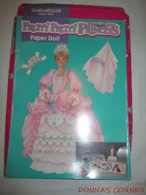 PRETTY PRETTY PRINCESS PAPER DOLL WITH BOX , DOLL AND ALL CLOTHES