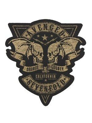 Avenged Sevenfold Orange County Cut Out Black A7X Patch 9x9.5cm