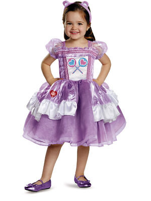 Deluxe Care Bears Share Bear Lollipops Girls Tutu Dress Toddler Costume 2T-6X