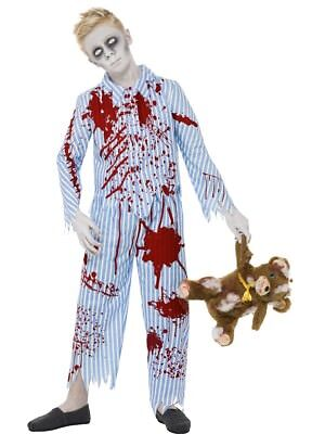 Halloween Zombie Pyjama Boys Med Smiffys Fancy Dress Costume Complete Outfit