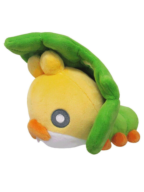 """REAL AUTHENTIC Sanei Pokemon All Star PP92 Sewaddle 5.5"""" Stuffed Plush Toy"""