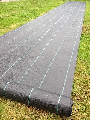 Woven Ground Cover unrolling for installation