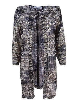 Kasper Women's Plus Size Printed Flyaway Jacket