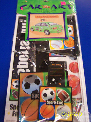 All Sports Fan Auto Decorations Car Decorating Kit Magnets D