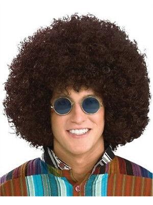 Oversize Jumbo Adult Brown Afro Disco Costume - Disco Accessories