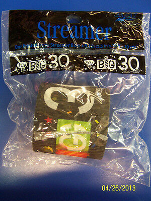 Over the Big Hill 30 Black Adult 30th Birthday Party Decoration Crepe Streamer