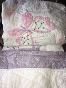 New~Pottery Barn Kids Gabrielle Butterfly Quilt~F/Q