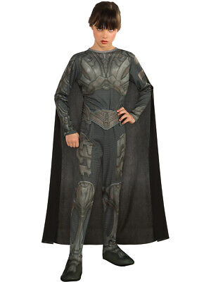 Childs Girls Superman Man of Steel Faora Costume](Superman Girl Costumes)