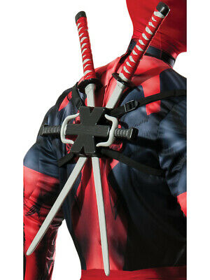 Marvel Deadpool Weapon Kit Swords And Sai Swords Costume Accessory
