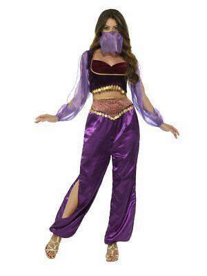 Womens Genie Costumes (Smiffys Arabian Princess Genie Belly Dancer Adult Womens Halloween Costume)