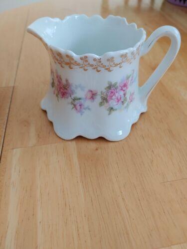Vintage Z.S. & CO(?) Bavaria Pink Floral Creamer
