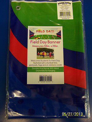 Field Day School Activity Sports Party Decoration Giant Plastic Sign Banner - Field Day Activities