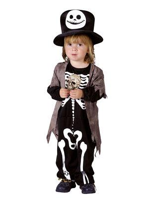 Kostüm für Kinder Overall Skelett (3-4 Jahre) Halloween (Halloween Kostüme 3 4 Jahre)