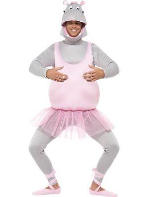 SMI - Herren Kostüm Ballerina Nilpferd Hippo Karneval Fasching ()