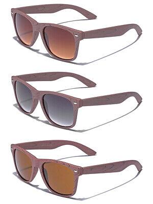 6PC COMBO Wood Print Frame Women Retro Fashion Iconic Style Sunglasses (Wood Sunglasses Wholesale)