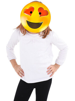 Texting Emoticon Emoji Heart Eyes Face Mask Costume Accessory](Halloween Emoji Text)
