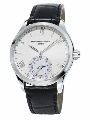 Frederique Constant Horological FC-285S5B6 Men's 42mm Silver Dial Leather Watch