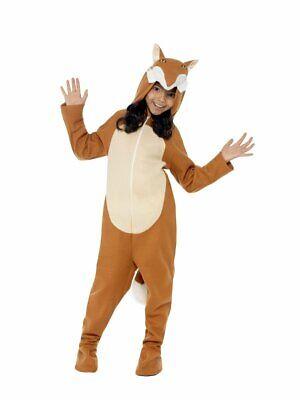 Smiffys Fox Animals One Piece Jumpsuit Childrens Unisex Halloween Costume 44074