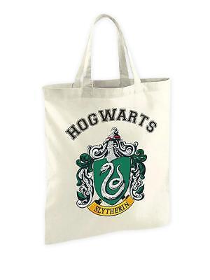 Harry Potter Stofftasche Slytherin Wappen Jute Beutel Baumwolle Shopper 35x40 cm (Harry-potter-stoff)