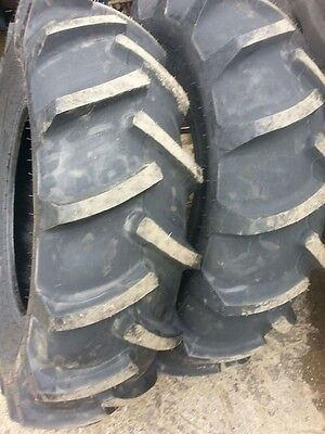 Two 14.9x24 John Deere Ford 8 Ply Tl Easy Repair Tractor Tires