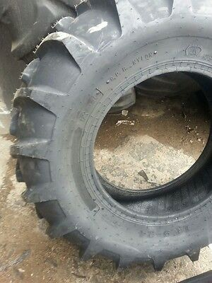 Two 14.9x24 Case Ih 8 Ply Tubeless Easy Repair Tractor Tires