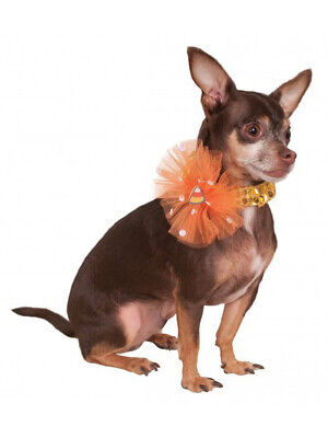 Halloween Candy Corn Sequin Necklace Collar For Pet Dog Costume Accessory](Corn Dog Costume Halloween)