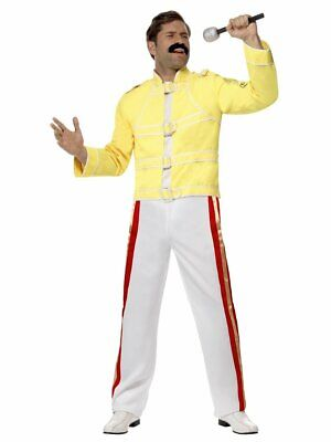 Smiffys Queen Freddie Mercury Jacket Pants Adult Mens Halloween Costume 48299](Freddy Mercury Costumes)