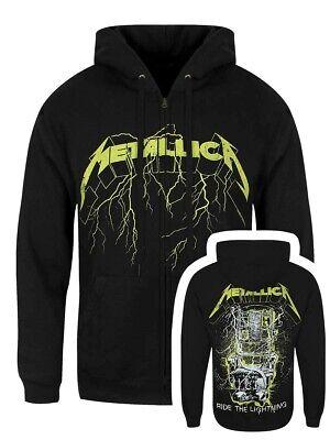 Metallica Herren Kapuzenpullover mit Reißverschluss Splatter Lightning schwarz