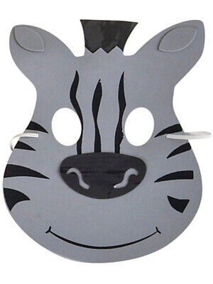 New Halloween Costume Party Foam Zoo Animal Zebra Mask