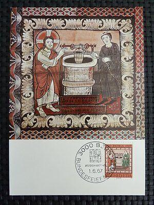 SCHWEIZ MK 1967 855 PP CHRISTUS MAXIMUMKARTE CARTE MAXIMUM CARD MC CM 9682