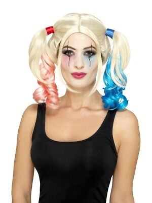 80073 / 4 Suicide Harley Damen Perücke Karneval Halloween Squad Quinn Kostüm ()