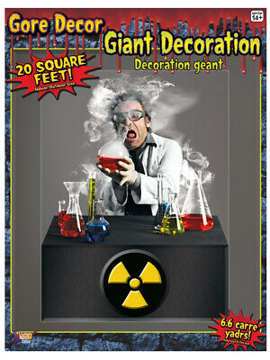 Large 4ft 5ft Haunted House Decor Mad Scientist Wall Border Scene Setter Decal