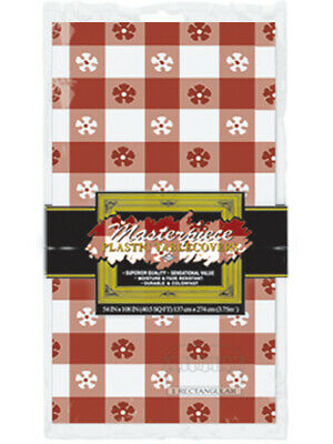 Red Gingham Classic Checkered Picnic Table Cover Party - Picnic Table Decorations