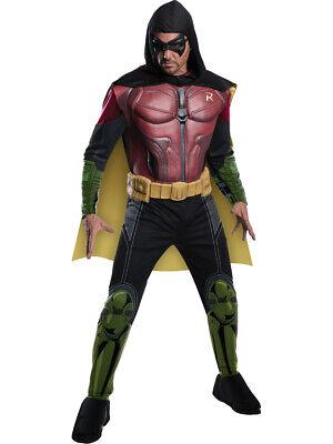 Adult Mens Batman DC Comics Arkham City Origins Asylum Muscle Robin - Arkham Asylum Costume