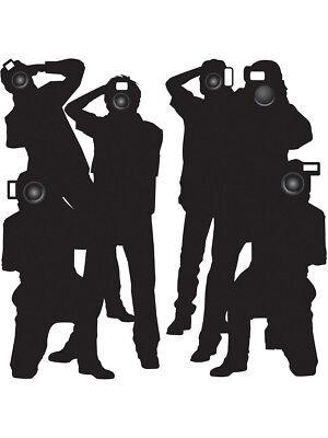 Hollywood Stars Movie Awards Night Paparazzi Silhouettes Prop Decoration 5' 6