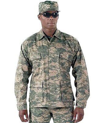 ACU Digital Camo  ARMY MENS ROTHCO BDU / Military Uniform Shirt JACKET  S TO 2X Camo Bdu Military Shirt Jacket