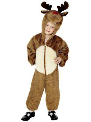 Smiffy's Reindeer Rudolph Santa Child Boys Christmas X-Mas Holiday Costume 30774